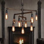 51xm8FoDqFL. AC 150x150 - OYI Industrial Steam Punk Wall Sconce, 5 Lights Antique Metal Water Pipe Style