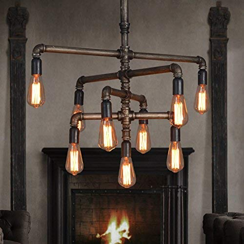 51xm8FoDqFL. AC - SEOL-LIGHT Barn Adjustable Pipe Chandeliers Pendant Hanging Lighting with 9 Sockets