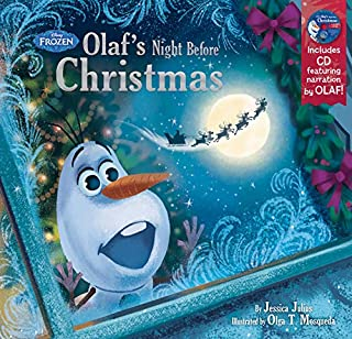 61uSFhrQ5RL. AC UL320 ML3 - Frozen Olaf's Night Before Christmas Book & CD Hardcover – September 15, 2015 by Disney Book Group (Author), Disney Storybook Art Team (Illustrator)