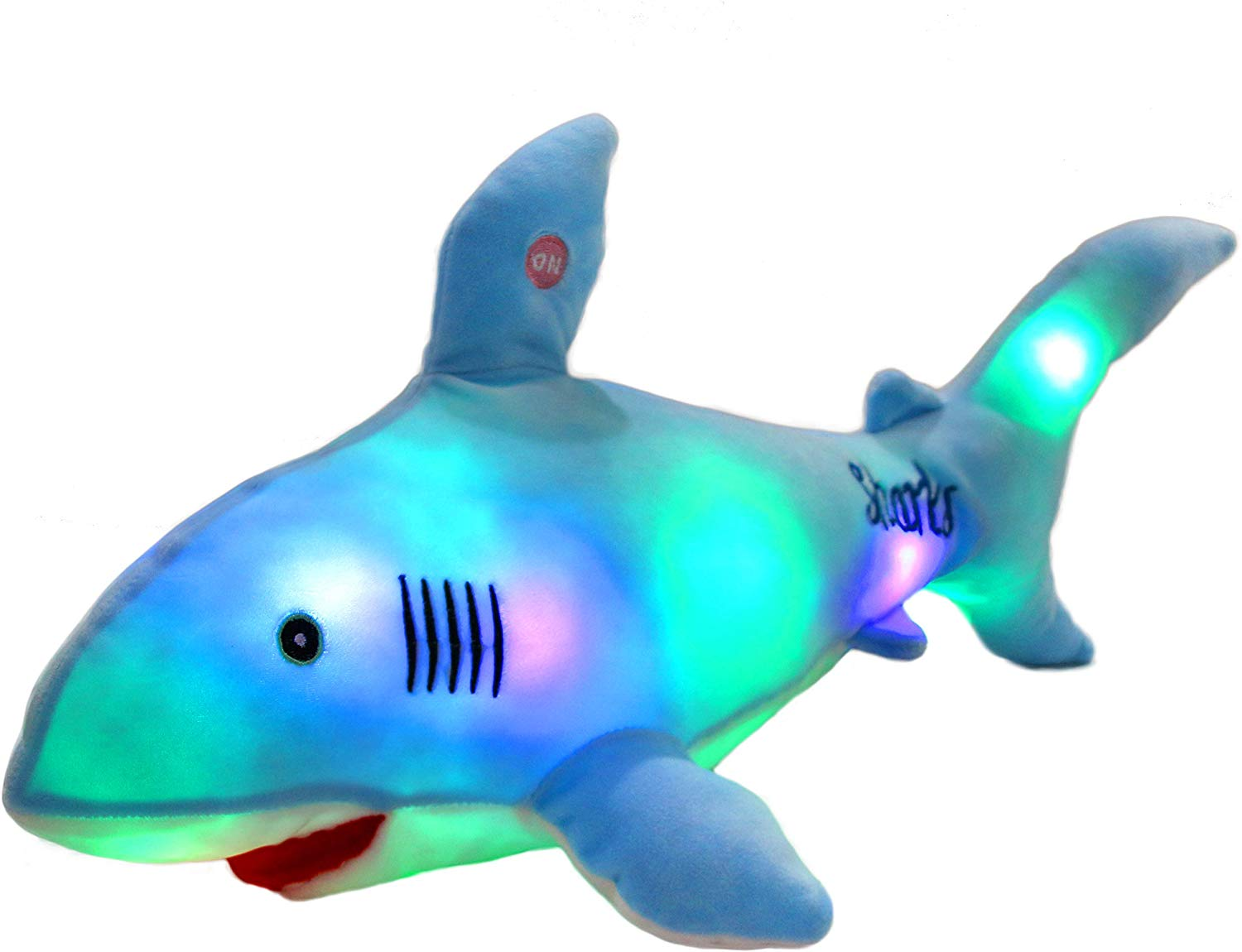 715RqdNXJYL. AC SL1500 - Bstaofy LED Blue Shark Stuffed Animal Glow Plush