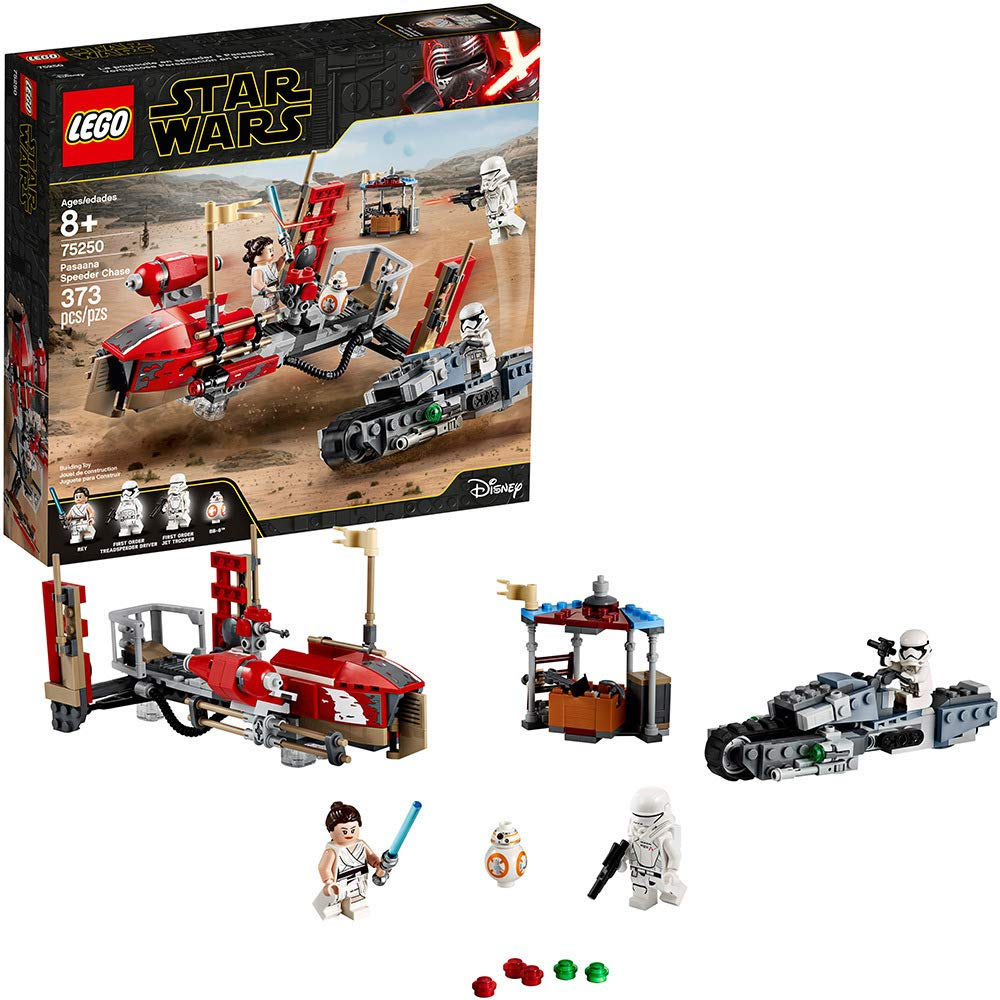 71F7i6pRq2BL. SL1000 - LEGO Star Wars: The Rise of Skywalker Pasaana Speeder Chase 75250 Hovering Transport Speeder Building Kit with Action Figures, New 2019 (373 Pieces)