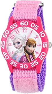 71QrcSnln8L. AC UL320 ML3 - Disney Girls' Anna & Elsa Plastic Pink Watch