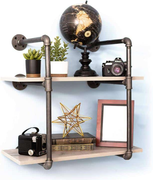 71U4x5aYs2L. AC SL1500 - Pipe Decor 2 Tier Industrial Pipe Shelf