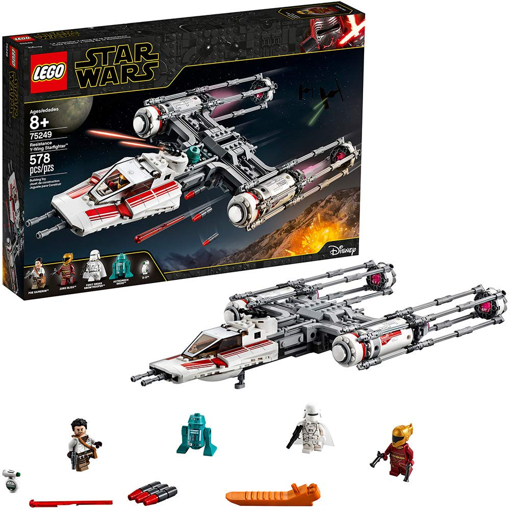 71lwSp8MV0L. SL1000 1 - LEGO Star Wars: The Rise of Skywalker Resistance Y-Wing Starfighter 75249 New Advanced Collectible Starship Model Building Kit, New 2019 (578 Pieces)