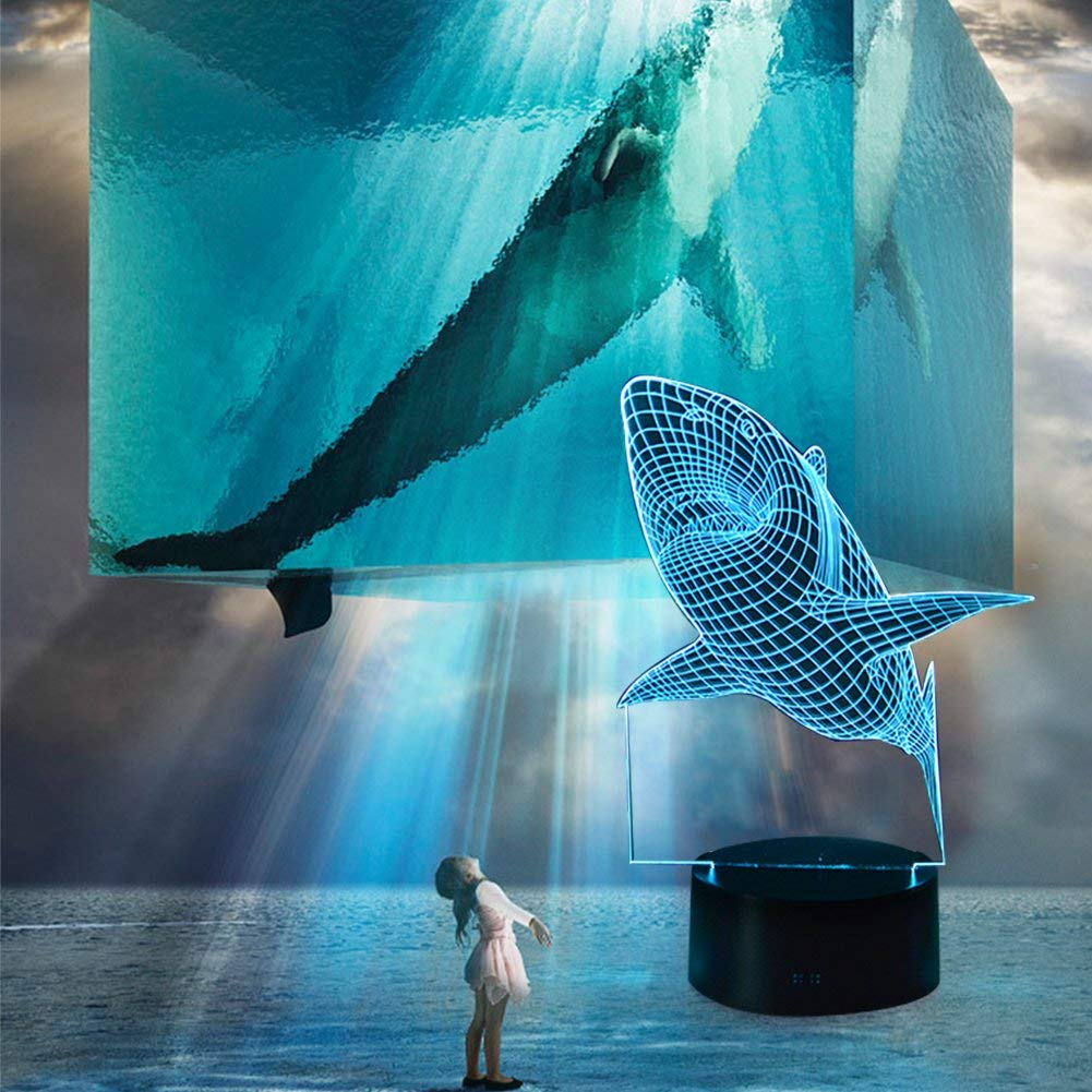71vb3s72J2BL. AC SL1001 - YiaMia 3D Shark LED Night Light