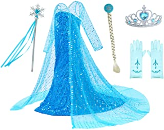 81BU5zGkFhL. AC UL320 ML3 - Party Chili Luxury Princess Dress Costumes with Shining Long Cap Girls Birthday Party 2-10 Years