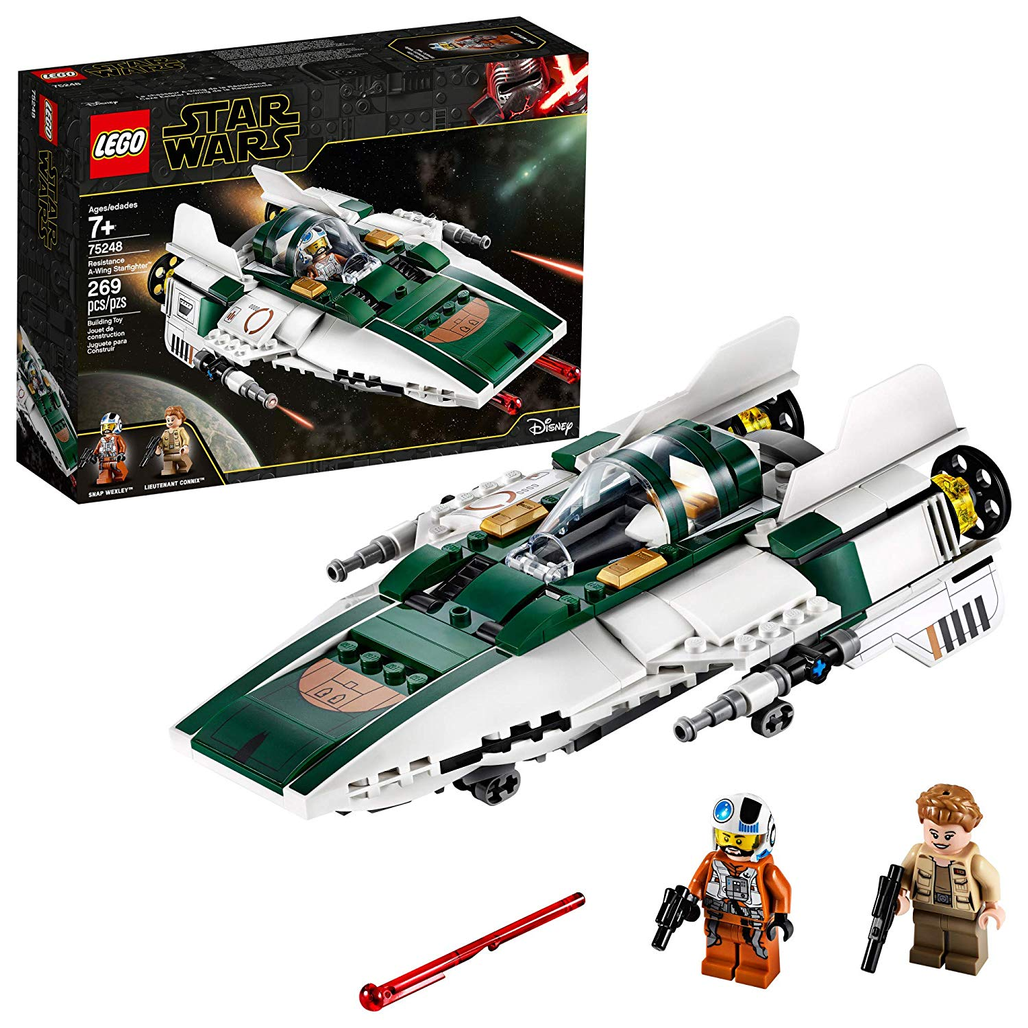 81C2B bJ3LL. SL1500 - LEGO Star Wars: The Rise of Skywalker Resistance A-Wing Starfighter 75248 Advanced Collectible Starship Model Building Kit, New 2019 (269 Pieces