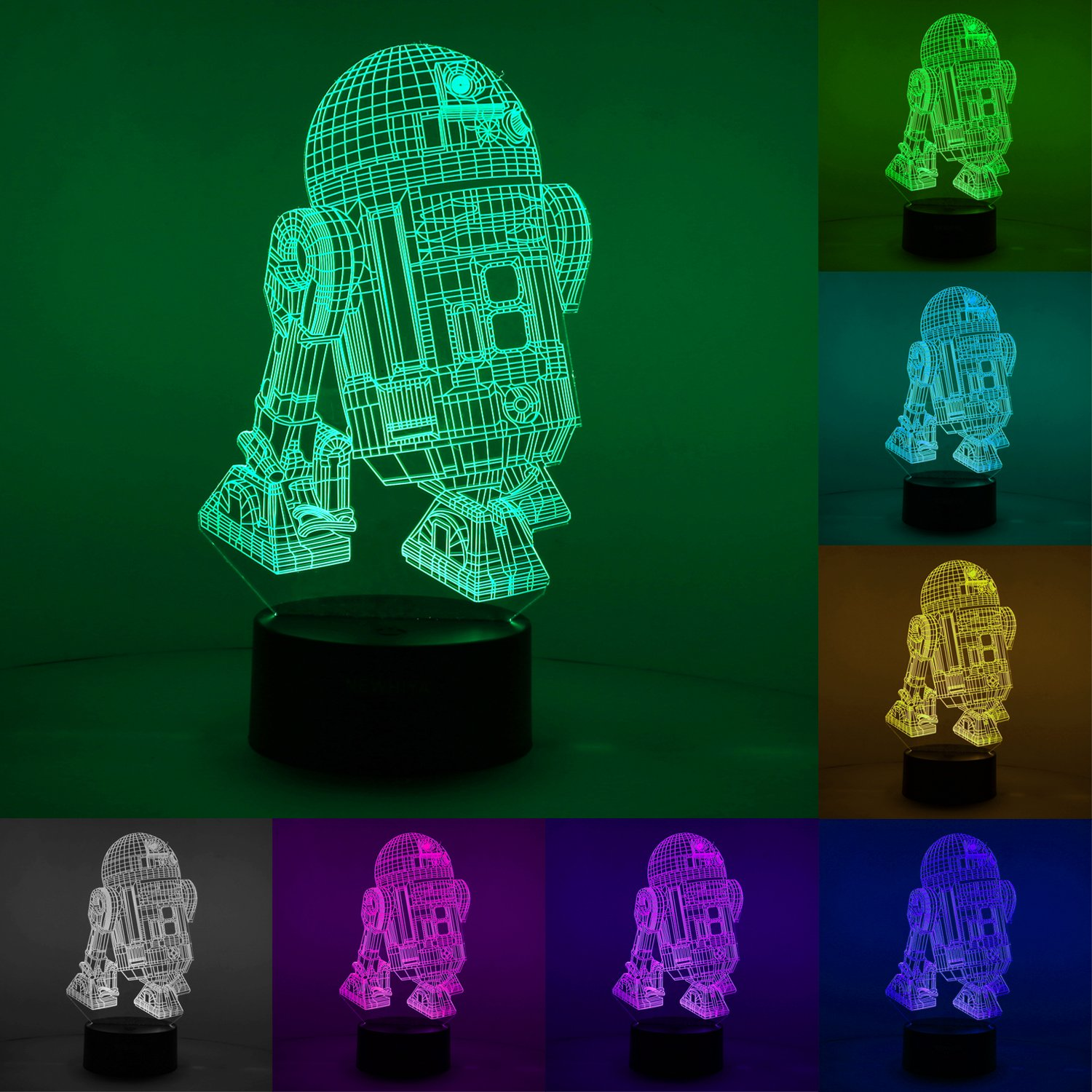 81FO61pISqL. SL1500 - 3D Illusion Star Wars Night Light, Three Pattern and 7 Color Change Decor Lamp - Perfect Gifts for Kids and Star Wars Fans