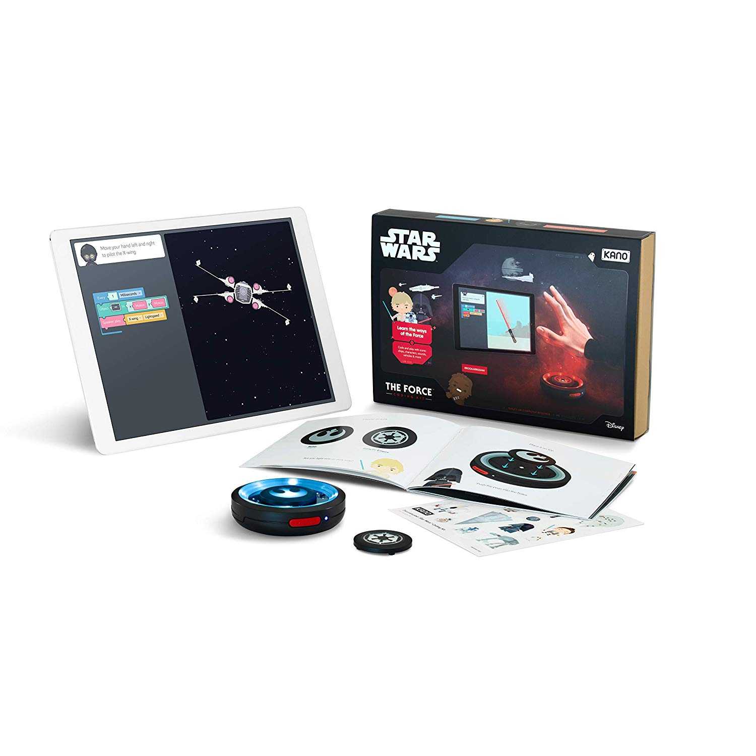 81NzhGRmRPL. SL1500 - Kano Star Wars The Force Coding Kit - Explore The Force. STEM Learning and Coding Toy for Kids Style:Standard