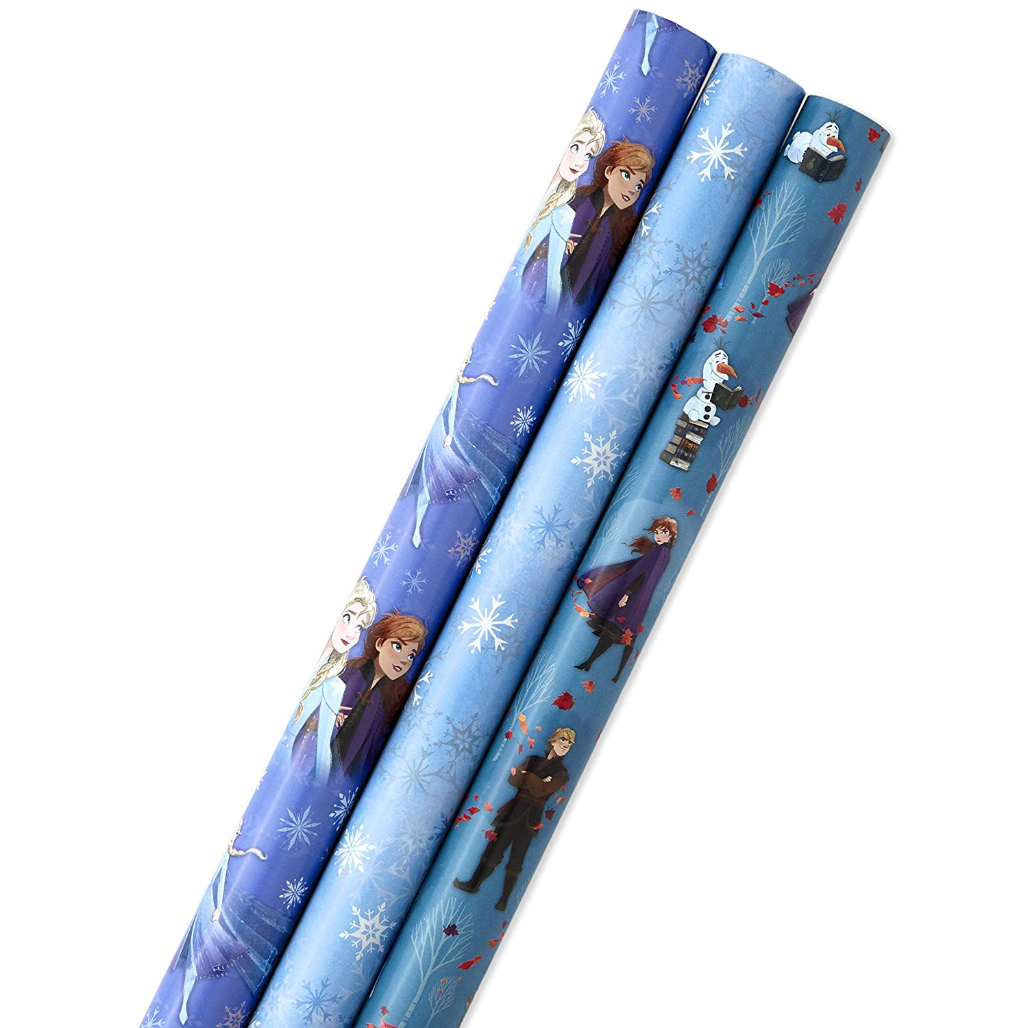 81Qa1 1z8jL. SL1500 - Hallmark Disney's Frozen 2 Wrapping Paper with Cut Lines (Pack of 3, 105 sq. ft. ttl.) for Birthdays, Christmas, Kids Parties or Any Occasion Color:Frozen 2 Characters