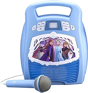 81W1msWOaiL. AC UL320 ML3 - eKids Frozen 2 Bluetooth Portable MP3 Karaoke Machine Player with Light Show Store Hours of Music with Built in Memory Sing Along Using The Real Working Microphone USB Port to Expand Your Content by eKids