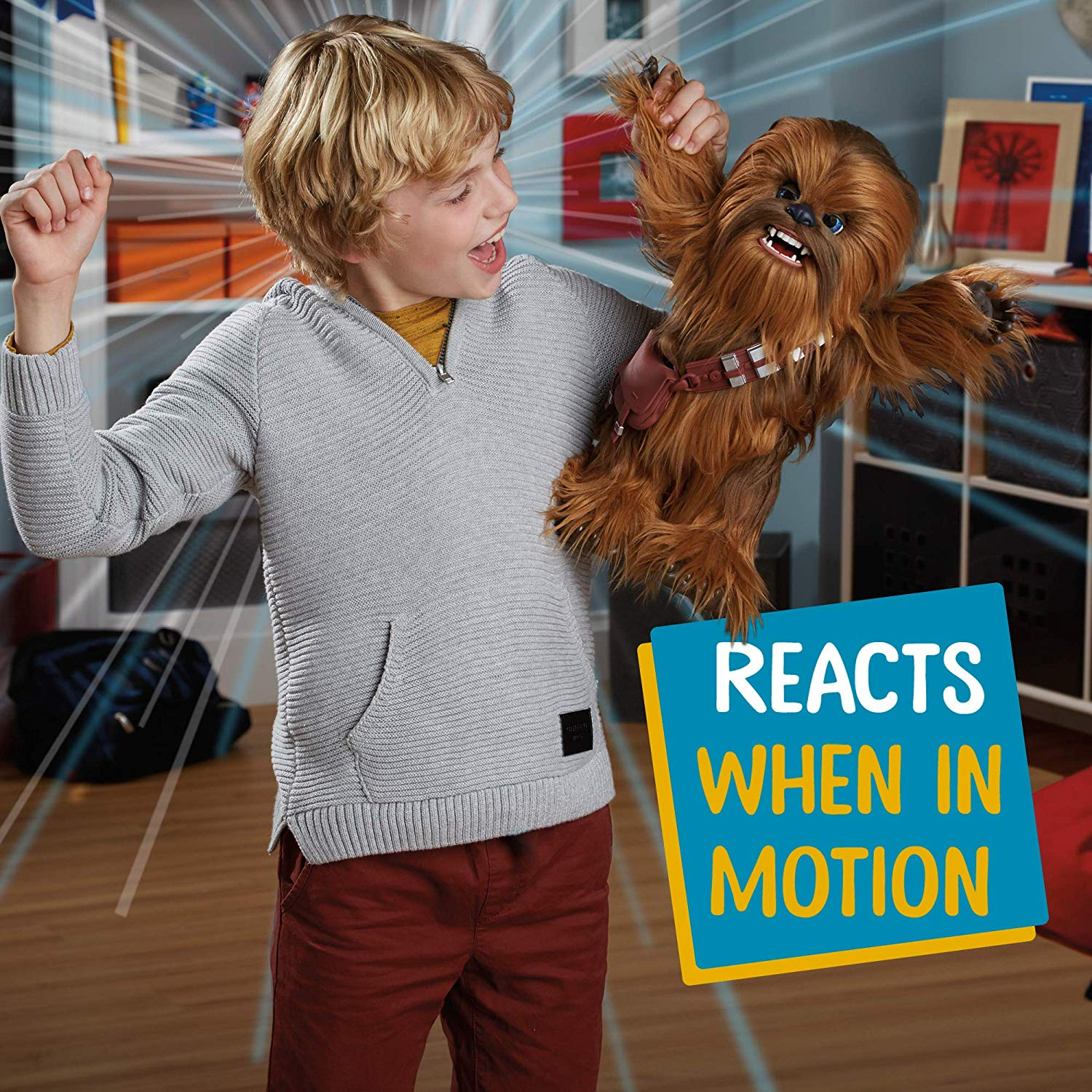 81bF2z3MAVL. SL1500 - Star Wars Ultimate Co-pilot Chewie Interactive Plush Toy, brought to life by furReal, 100+ Sound-and-Motion Combinations, Ages 4 and Up Style:Standard