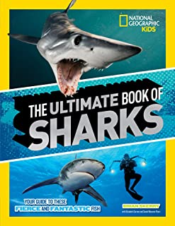81dq3aHTuL. AC UL320 ML3 - The Ultimate Book of Sharks (National Geographic Kids) Hardcover