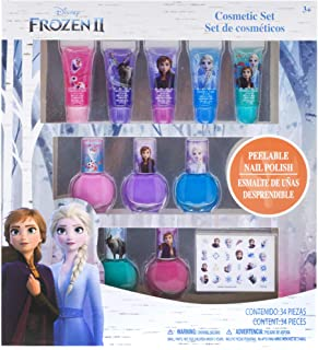81kSl rntqL. AC UL320 ML3 - Townley Girl Disney Frozen 2 Super Sparkly Cosmetic Set with Lip Gloss, Nail Polish and Nail Stickers - 11 Pack by Townley Girl
