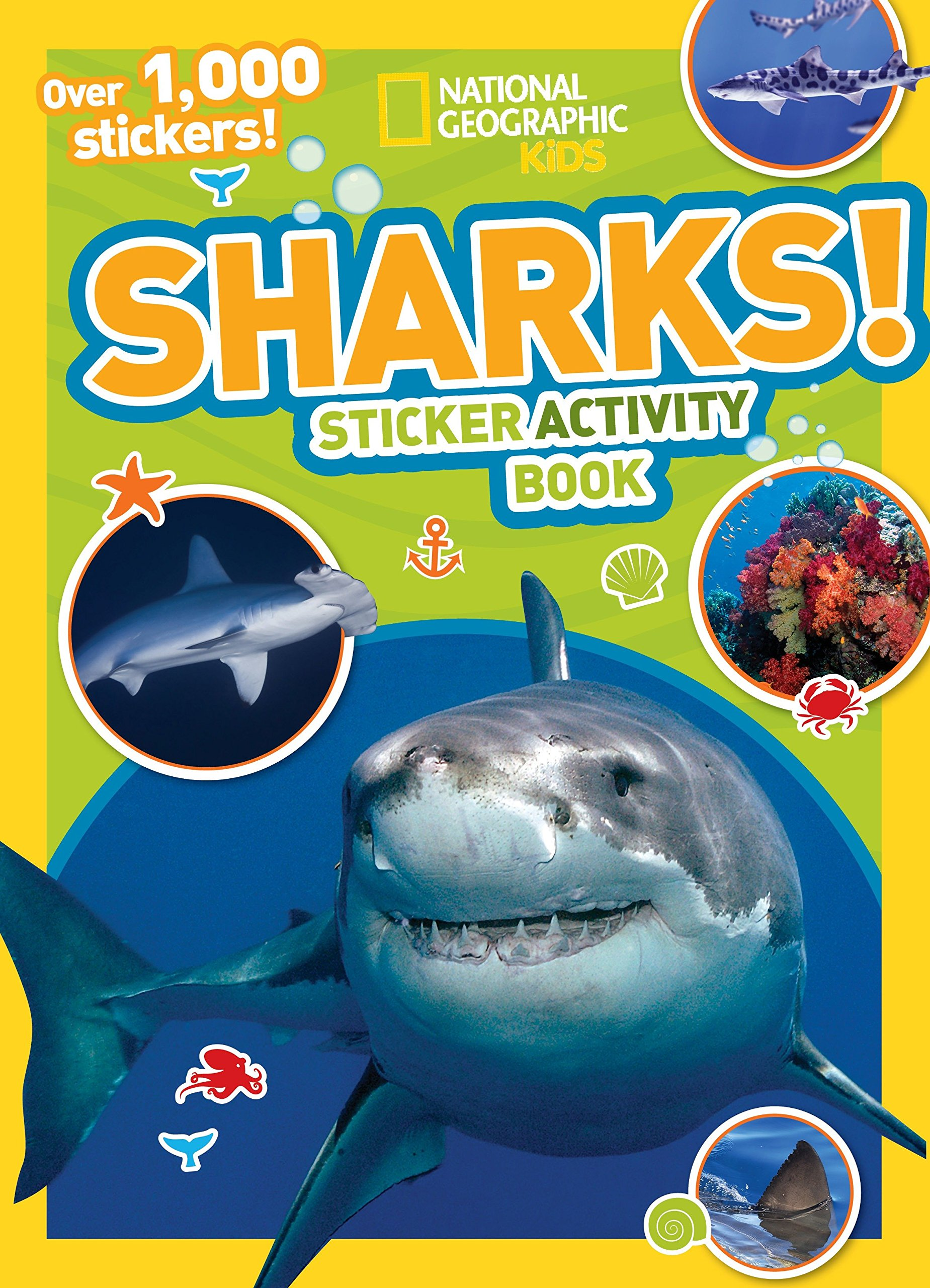 9188zlEy2BL - National Geographic Kids Sharks Sticker Activity Book: Over 1,000 Stickers