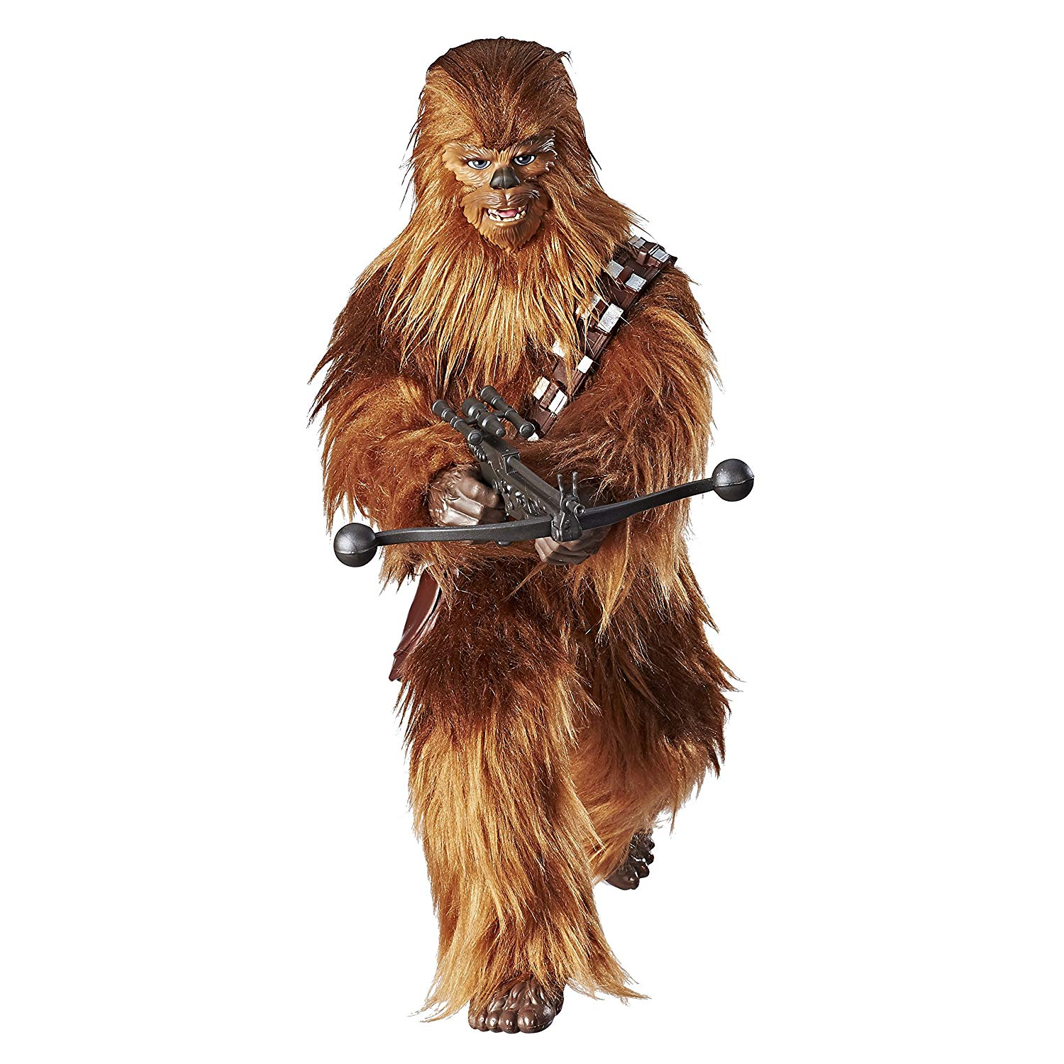 91iETiJtF L. SL1500 - Star Wars Forces of Destiny Roaring Chewbacca Adventure Figure Toy - Sounds and Looks Just Like Real Chewy - Highly Poseable - Comes with Bandolier and...