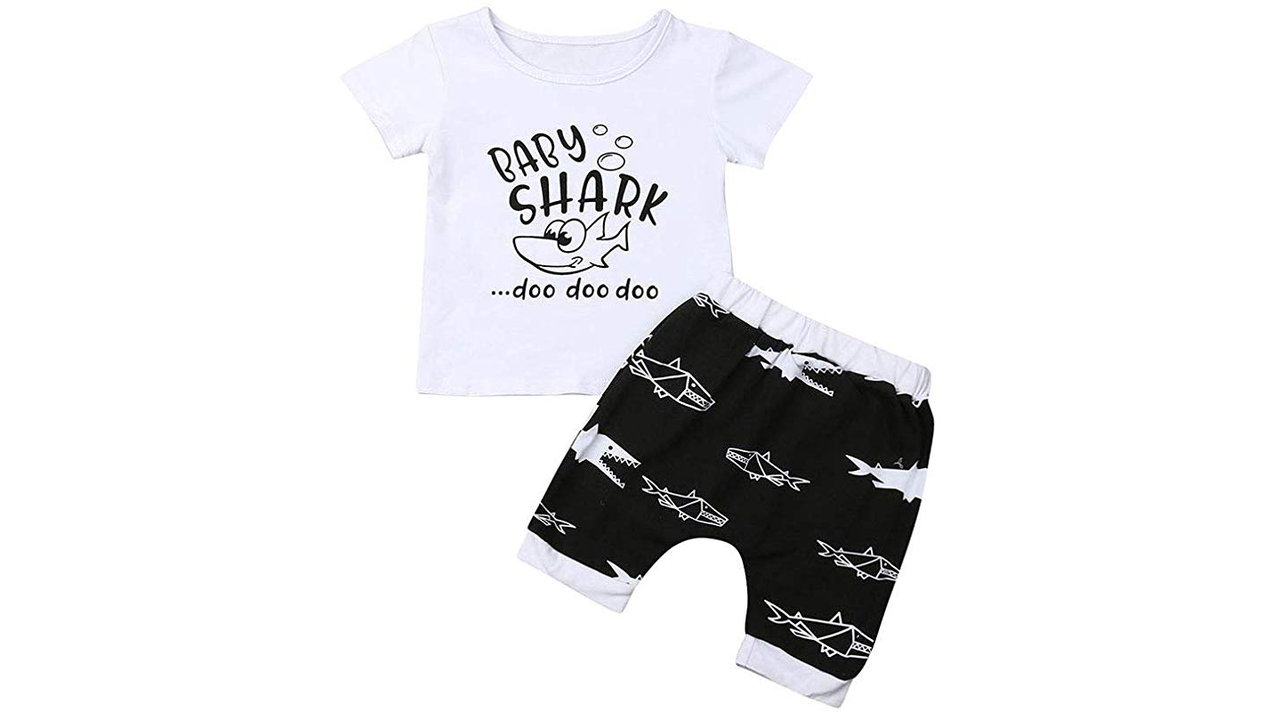 Baby Shark Cotton Sleeveless Outfits Set Tops and Short Pants 11 - Baby Shark Themed Shirts - Shark Lovers Gift Ideas 2020 [User Rated]