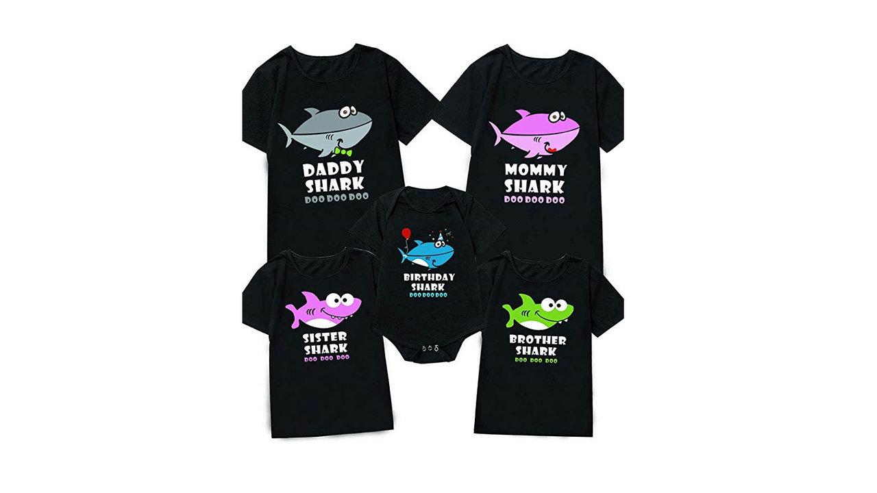 Minseng Direct My First Birthday Outfit Funny Shark Family Matching Outfit 5 - Baby Shark Themed Shirts - Shark Lovers Gift Ideas 2020 [User Rated]