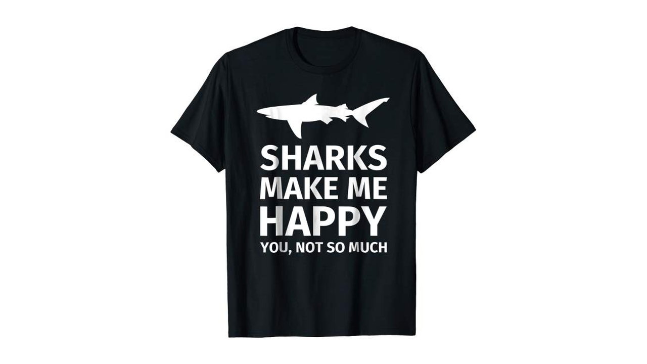 Sharks Make Me Happy 15 - Sharks Make Me Happy Men's T-Shirt