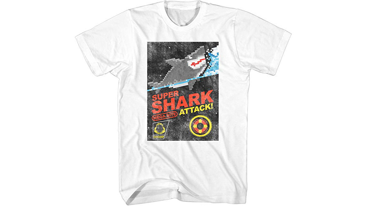 Super Shark Attack Classic Retro Vintage Pixel 1 - Super Shark Attack Classic Retro Vintage Pixel Tshirt